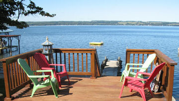 Finger Lakes Vacation Rental Our Deck