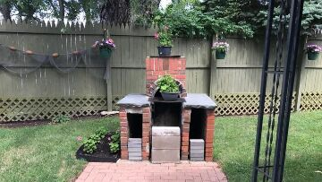 Finger Lakes Vacation Rental Outdoor Fire Place